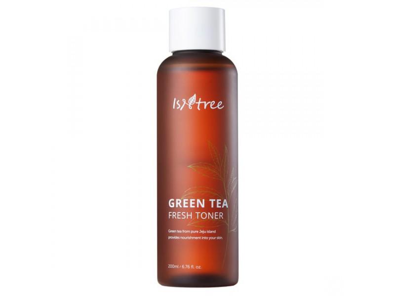 Освежающий тоник с экстрактом зеленого чая Isntree green tea fresh toner
