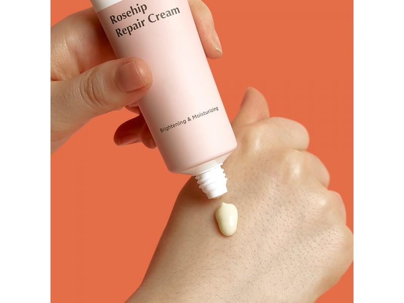 Крем для лица с натуральным экстрактом шиповника rosehip repair cream Manyo