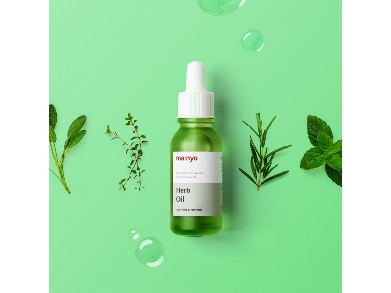 Лечебное масло на травах для лица active refresh herb special treatment oil manyo factory