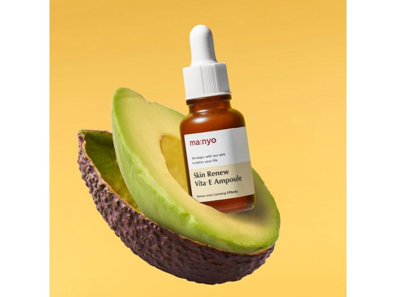 Обновляющая сыворотка с витамином E для лица - Manyo factory skin renew vita e ampoule