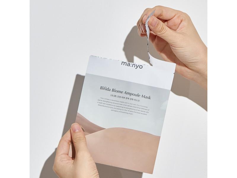 Листовая маска бифида биом - bifida biome ampoule mask Manyo