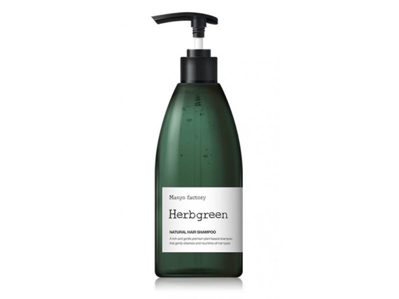 Питательный шампунь для волос manyo factory natural hair shampoo Herb Green